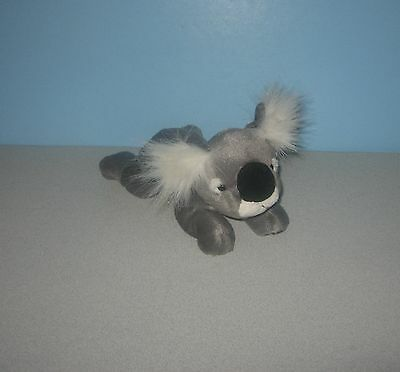 "K&M Wild Republic Laying Pose 8"" Koala Bear Stuffed Bean Plush w/ Fuzzy Ears"