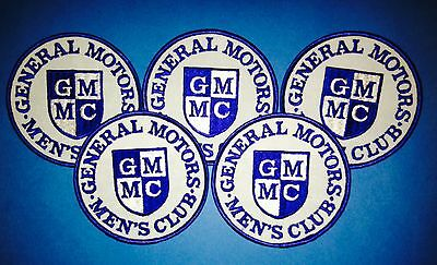 5 Lot Rare Vintage 70's General Motors Men's Club Car Hipster Jacket Patches