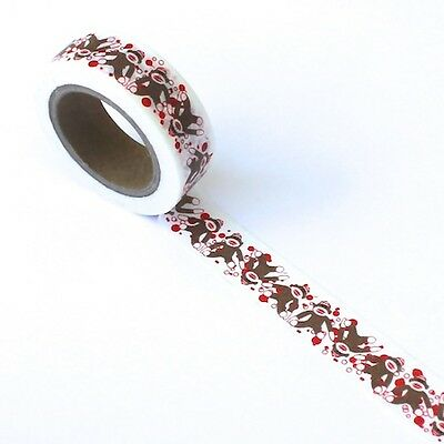 Washi Tape - Sock Monkey teddy toy baby - 15mm wide, 10m length - scrapbooking
