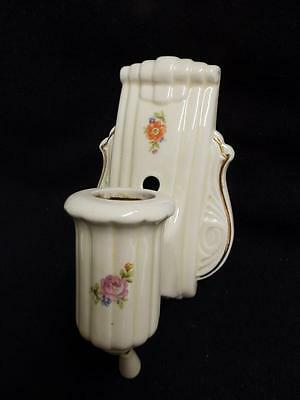Vintage Porcelain Bathroom Shabby Floral Chic Light Fixture Wall Sconce #2855-14