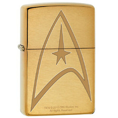 Star Trek Command Engraved Logo Solid Brass Novelty Zippo Lighter