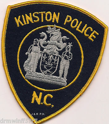 "Kinston,NC  (4"" x 5"" size)  shoulder police patch (fire)"