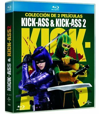Pack Kick Ass 1 + Kick-Ass 2 BLURAY ESPAÑOL  NUEVO CASTELLANO PRECINTADO BLU RAY