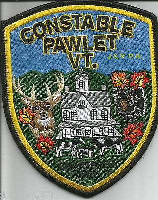 "Pawlet - Constable, VT  (4"" x 5"" size)   shoulder police patch (fire)"