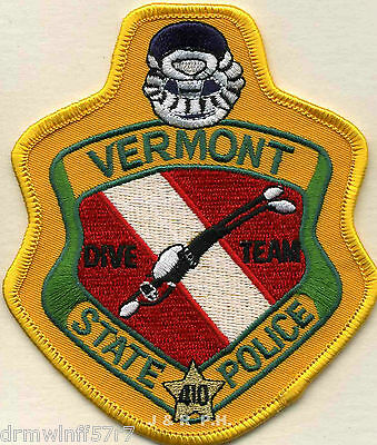 "Vermont - State Dive Team  (3.75"" x 4.5"" size)  shoulder police patch (fire)"