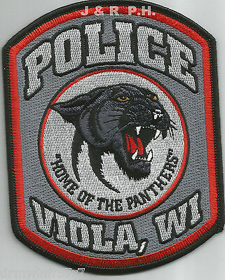 "WI  /""Home of Wildcats/"" Lafarge fire 3.75/"" x 5/"" size shoulder police patch"