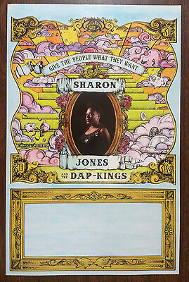 Music Poster Promo Sharon Jones And The Dap-Kings Give The People What They Want