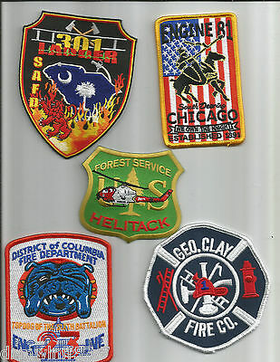 Set # 627   fire patch 5 New Fire Patches