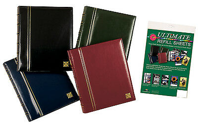 The Ultimate Ring Binder Leatherette Combination Photo Album and Refills