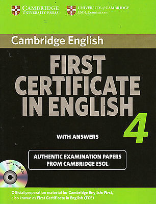 Cambridge FIRST CERTIFICATE IN ENGLISH 4 FCE with Answers & Audio CDs @NEW@