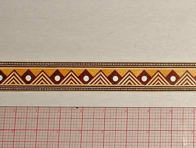 """1-1/5"""" Egyptian Inspired -- Buffard Frères Marquetry Banding Strips (Inlay-73b)"""