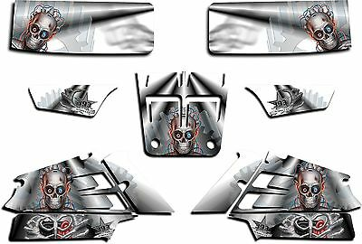Yamaha Banshee Graphics Wrap Decal Sticker Kit Turbo Charged White