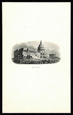 """""""THE CAPITOL"""" ENGRAVED DIE PROOF FROM ABNCo. ARCHIVES BR810"""
