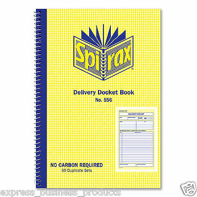 2 Pack Spirax #556 Delivery Docket Book 50 Duplicate Sets – EA40898