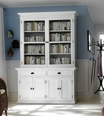 Stockholm White Painted Mahogany Dining Furniture Large Dresser Cabinet Unit