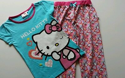 Girls Pretty Pink Hello Kitty Pyjamas Or All In One  New! Ages 1- 2 3 4 5 6 7 8