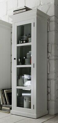 Stockholm White Painted Mahogany Dining Room Furniture Glazed Display Cabinet