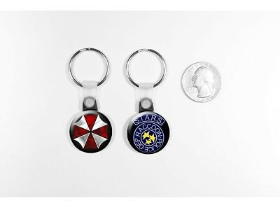 Resident Evil Umbrella Corporation STARS Logos set of 2 Key Chains