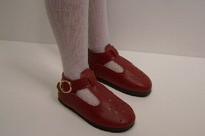 Snug on Little Darling 47mm WHITE Slip ons for Bitty Bethany Doll Shoes
