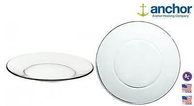 """Anchor Hocking 86037 Large Glass Pie Dinner Plate Serving Dish 10"""""""