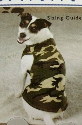 "CASUAL CANINE Dog ""Green Camo"" Tank *X-Large*"