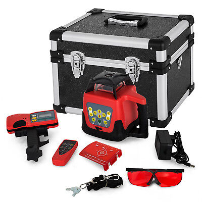 150m Self-Leveling Rotary Laser Level Kit Rotatationslaser Red Beam Automatic