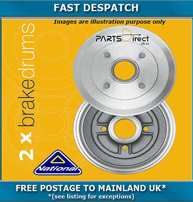 Rear Brake Drums For Vauxhall Astra 1.7 02/2000 - 05/2005 4458