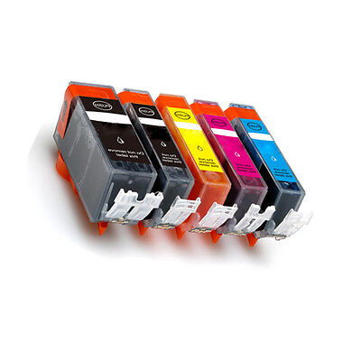 5 Pack Ink Combo Set w/ CHIP for PGI-225 CLI-226 Canon MG5120 MG5220 MG5320