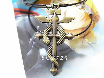 Anime collection Fullmetal Alchemist Ouroboros snake sign alloy metal necklace