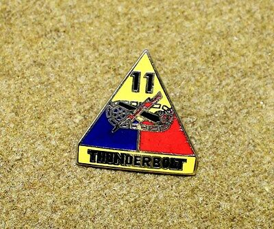 5530) US Army Pin 11th Armored Division InsigniaThunderbolt Military Medal Badge