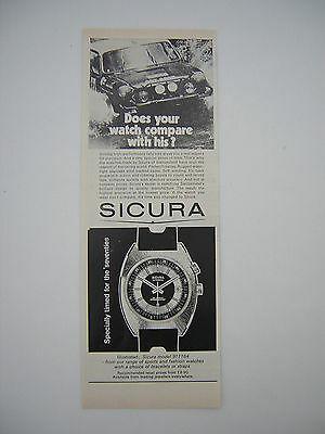 Original magazine Advert from 1971 for Sicura