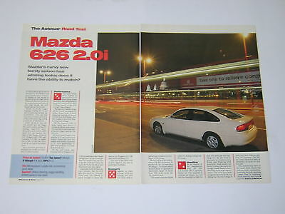 Mazda 626 2.0i Road Test from 1992 - Original