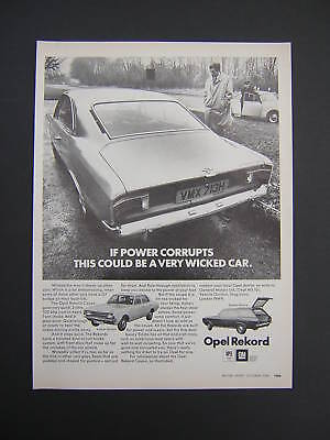 Opel Rekord Coupe Advert from 1969 - Saloon Estate