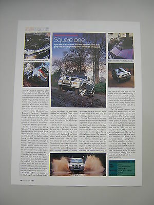 Mitsubishi Challenger TD GLS Road Test from 1999 -  Original