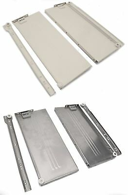 Metabox Metal Drawers Sides/Runners Slides Rollers Set - All Sizes