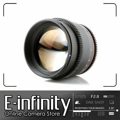 NEW Samyang 85mm T/1.5 VDSLR II Cine Lens for Canon EF Mount