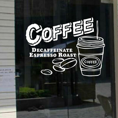 Cake Coffee Shop Window Sign Removable Wall Stickers Vinyl Decal Business Decor