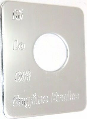 switch plate toggle cruise control stainless steel etched letters Peterbilt