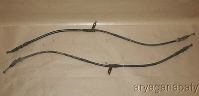 90-97 Mazda Miata Mx-5 OEM emergency ebrake parking hand brake cables x2 factory