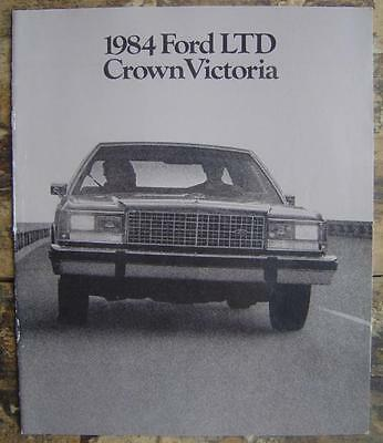 1984 Ford Ltd Crown Victoria Series Auto Sales Brochure