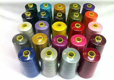 Overlocking Industrial Sewing Threads Polyester 5000Yards Black/white