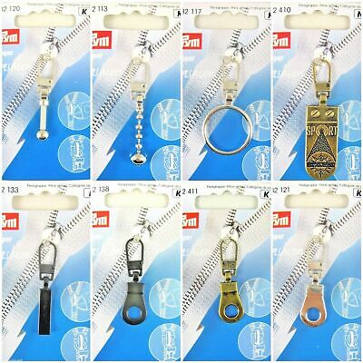 Prym Fashion Zip Puller / Zipper Pull - 8 Types - Includes Free UK 1st Class P&P
