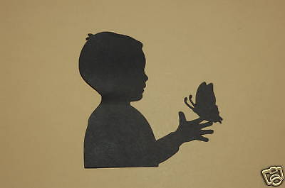 Cricut Boy with Butterfly Silhouette Cardstock Die Cut/Cuts