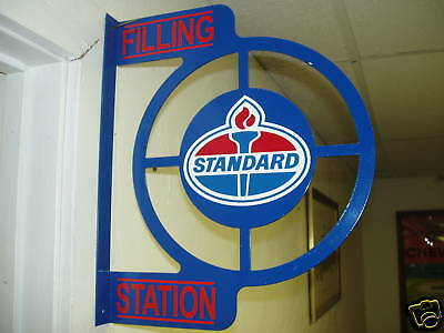 Standard Oil  1950S  Wall Mount Flange Advertising Sign