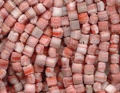 75 micro VINTAGE Marble Glass BEADS Coral Cream CREAM NAILHEAD BUTTONS BEADS Lot
