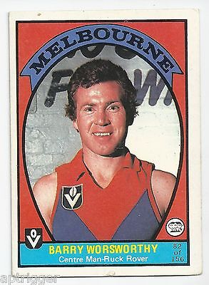 Learned 1980 Scanlens Card No150 Garry Baker Melbourne Sports Trading Cards