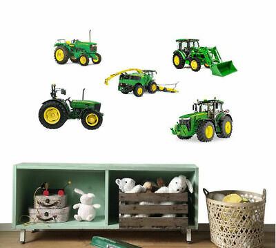 John Deere Tractor Removable Kids Wall Sticker Boys Vinyl Decal Nursery Decor