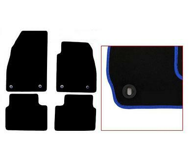 Vauxhall Insignia Tailored Car Mats (08 - 13) - Black With BLUE Edging