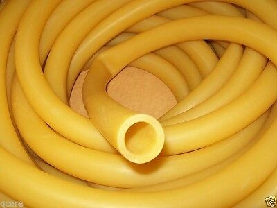 "5 Continuous ft. 3/4"" I.D x 1/8 wall x 1"" O.D Rubber Tubing Latex Amber USA Made"