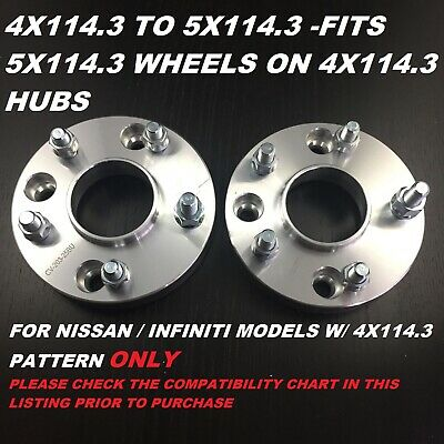 Hub Centric 4X114.3 To 5X114.3 Conversion 25Mm 1 Inch Wheel Spacers Adapters